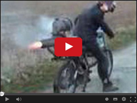 Motocykl z napędem rakietowym