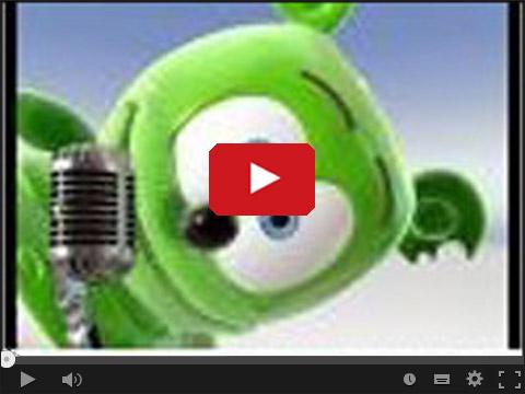 Zielony gumowy misiek