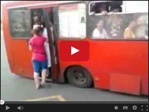 Ścisk w autobusie