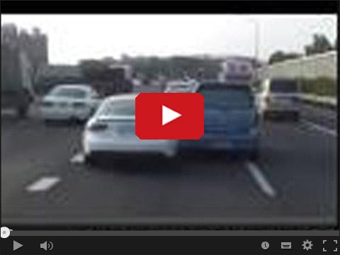 Walka o pas na autostradzie