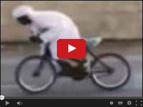 Palenie gumy na rowerze - Drift