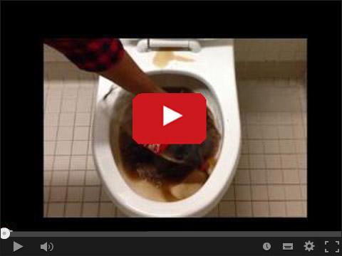 Coca Cola do mycia toalety