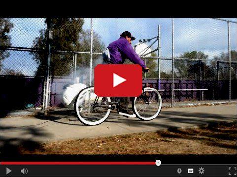Wybuchające siodełko w rowerze