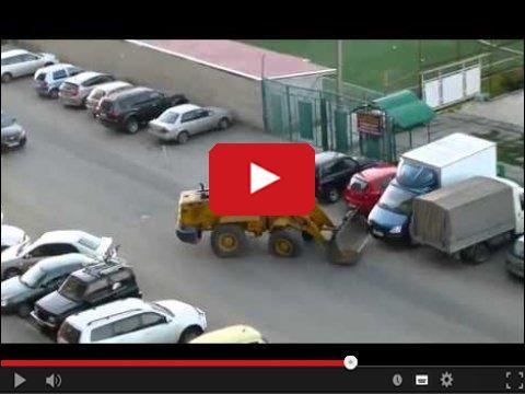 Demolka na parkingu
