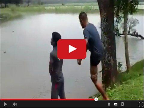Myślał że robił siku do jeziora