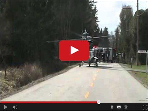 Nieudany start helikoptera
