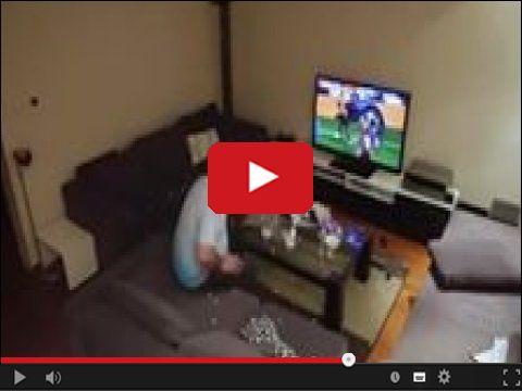 Facet rozwala telewizor bo przerywał podczas meczu