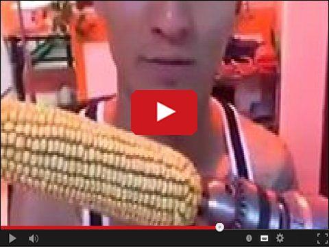 Kolba kukurydzy i wiertarka