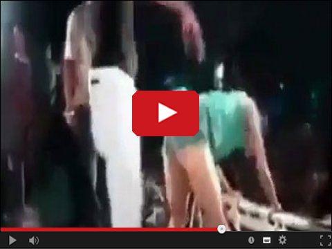 Wypadek na scenie - tancerka się wypieła i spadła