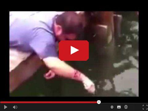Ciekawy sposób łowienia ryb na rękę