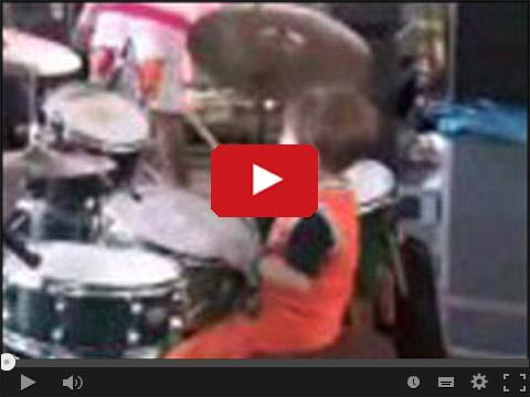 Igor Falecki dziecko perkusista