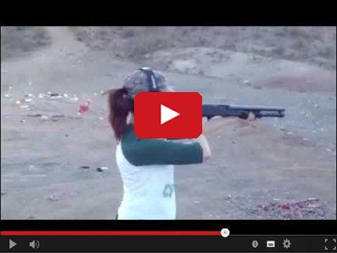 Dziewczyna na strzelnicy