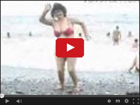 Baba Alla show na plaży