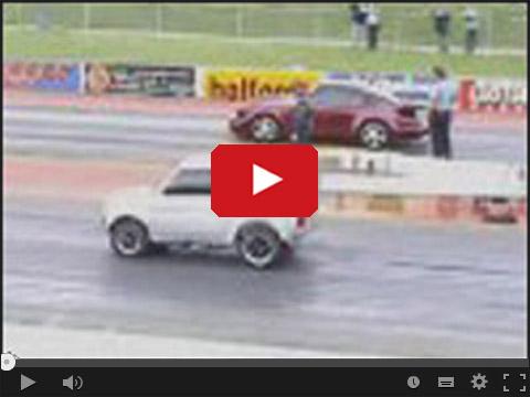 Fiat 126p w wyścigu z Porsche