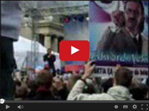Ędward Ącki - Wiec wyborczy pod Pałacem Kultury