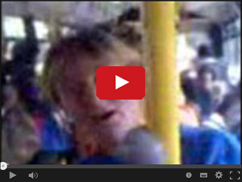Pijana babka w autobusie