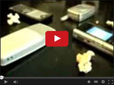 Popcorn robiony telefonami komórkowymi