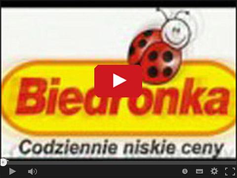 Parodia reklamy Biedronki